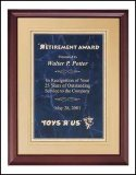 11 x 14 Cherry finish plaque TRO-P3556