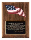 American Flag Plaque