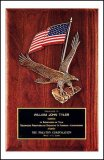 Flag/Eagle Walnut Plaque