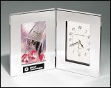 TRO-BC21 Silver Clock and Picture Frame