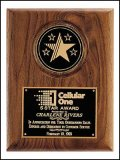 5 Star Medallion Walnut Plaque