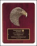 Rosewood Finish Eagle Plaque TRO-P3753