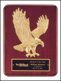"9"" x 12"" Rosewood Eagle Plaque TRO-P3749"