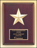 Rosewood Gold Star Plaque