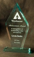 Tall Arrowhead Award with Reverse Bevels
