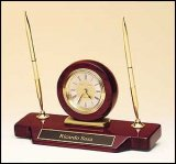 TRO-BC854 Clock and Pen Desk Set
