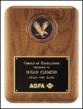 "8"" x 10 1/2"" Walnut Eagle Plaque TRO-P2294-X"