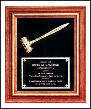 Walnut Framed Gavel